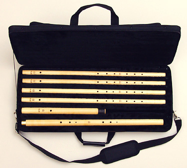 Renaissance flute consort in fitted case